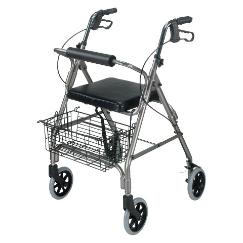 Mabis Healthcare Ultra Light Rollator - Titanium