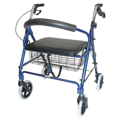 Mabis Healthcare Extra Wide Rollator - Royal Blue