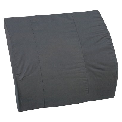 Mabis DMI Healthcare Lumbar Cushion for Bucket Seat - Black