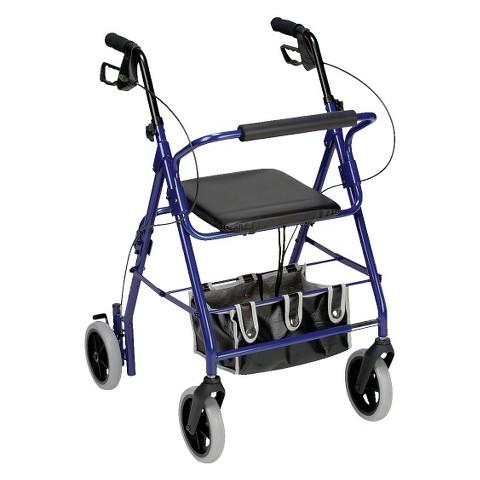 Mabis Healthcare Lightweight Rollator - Royal Blue