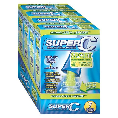 Super C Vitamin & Mineral Drink Mix Sport - 28 Count (4 Pack)