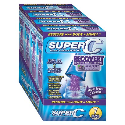 Super C Vitamin & Mineral Drink Mix Recovery - 28 Count (4 Pack)