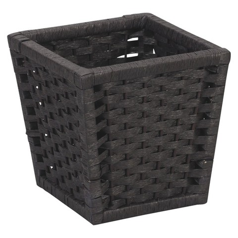 Paper Rope Waste Basket - Black