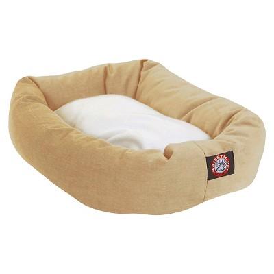 "Majestic Pet Bagel Pet Bed - Khaki/Sherpa (Medium - 32"")"