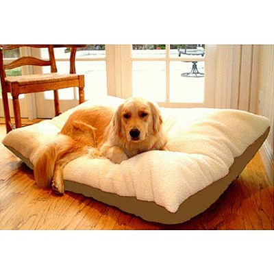 Majestic Rectangle Pet Bed - Khaki