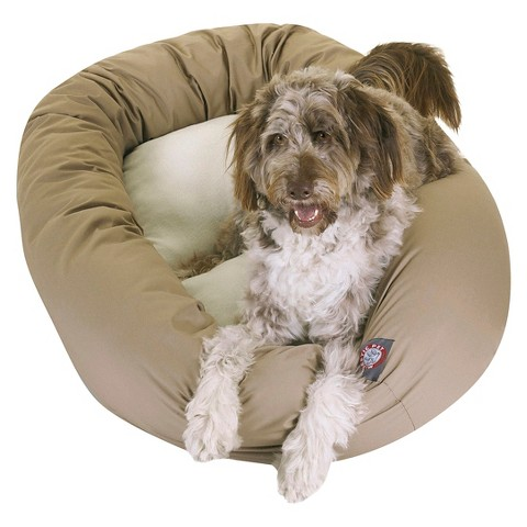 Majestic Pet Sherpa Bagel Bed - Burgundy