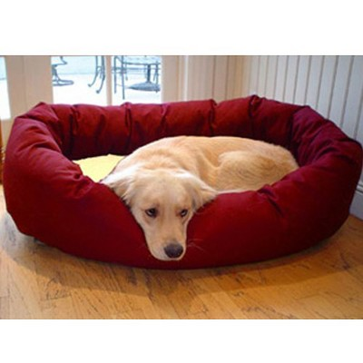 Majestic Pet Sherpa Bagel Bed - Burgundy (Medium)