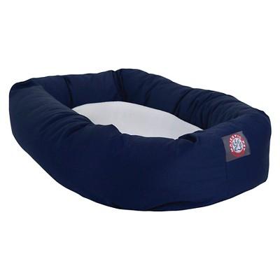 Majestic Pet Sherpa Bagel Bed - Blue (Large)