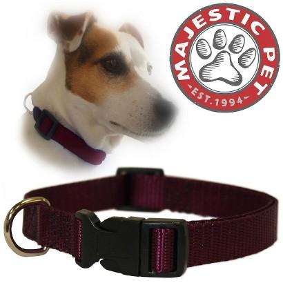 Majestic Pet Adjustable Collar - Burgundy