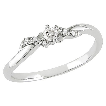 1/10 ct. Diamond 10k White Gold Engagement Ring