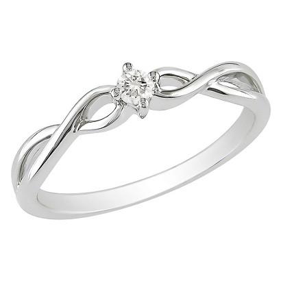 1/10 CT.T.W. Diamond Ring in 10K White Gold (GHI I2;I3)