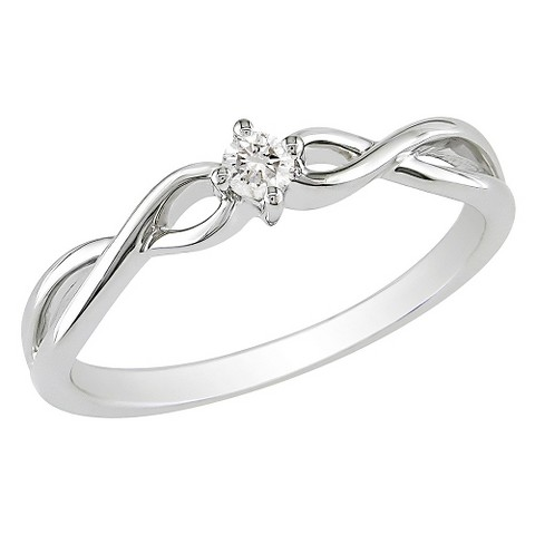 1/10 CT.T.W. Diamond Ring in 10K White Gold (GHI I2;I3)