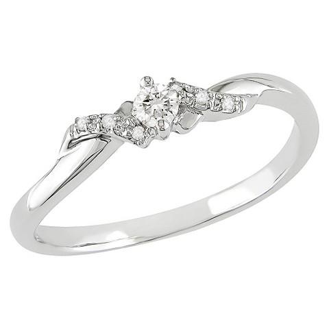 1/10 ct. Diamond 10k White Gold Engagement Ring