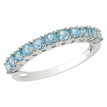 3/4 carat Sky Blue Topaz Ring in Sterling Silver