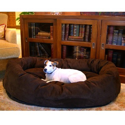 Majestic Pet Suede Bagel Bed - Chocolate (Small)