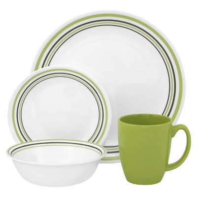 Corelle Garden Sketch Bands 16 Piece Dinnerware Set