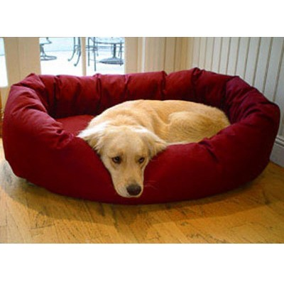 "Majestic Pet Bagel Bed - Burgundy (Medium - 32"")"