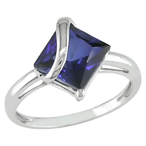 3.06 carat Created Sapphire Fashion Ring in 10k White Gold
