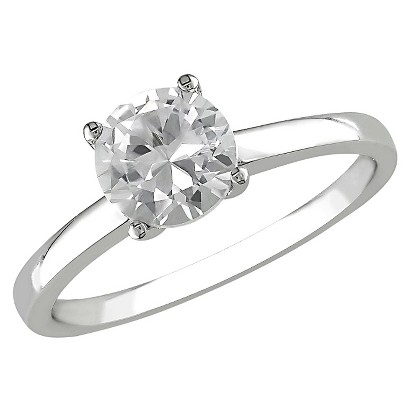 1.25 CT.T.W. Created White Sapphire Solitaire Ring in 10K White Gold