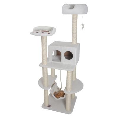"Majestic Pet Products Faux Sheepskin Cat Tree - 76"""