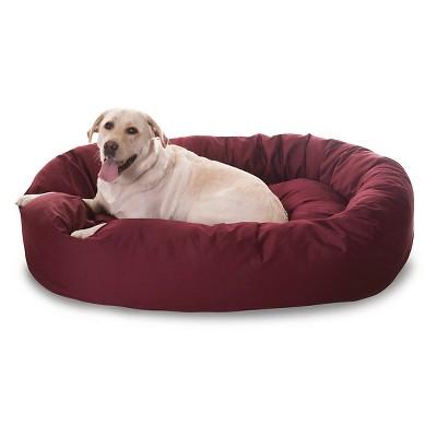 "Majestic Pet Bagel Bed - Burgundy (Xlarge - 52"")"