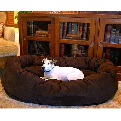 Majestic Pet Suede Bagel Bed - Chocolate (Xlarge)