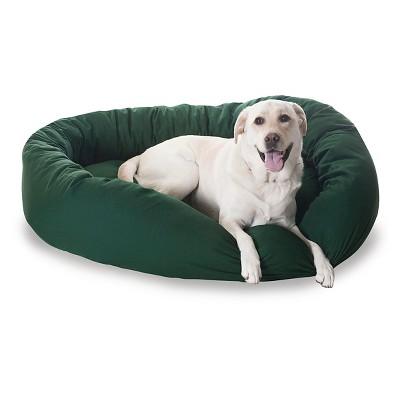 Majestic Pet Heavy Duty Denier Bagel Bed - Green (XLarge)