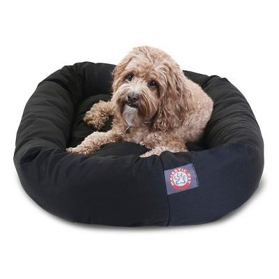 "Majestic Pet Bagel Bed - Black (Medium - 32"")"
