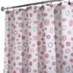 InterDesign Kiko Shower Curtain - Pink/Grey (72x72