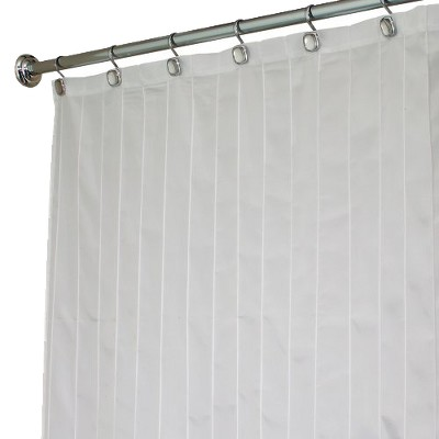 "InterDesign Pin Tuck Polyester Shower Curtain - White (72"" x 72"")"