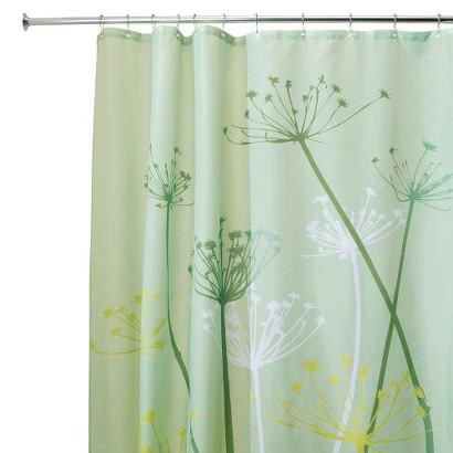 InterDesign Thistle Shower Curtain - Green (72x72)