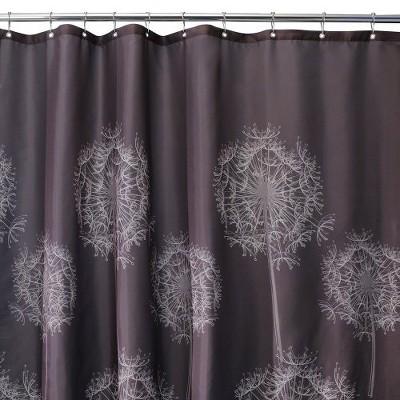 """InterDesign Dandelion Polyester Shower Curtain (72"""" x 72"""")"""