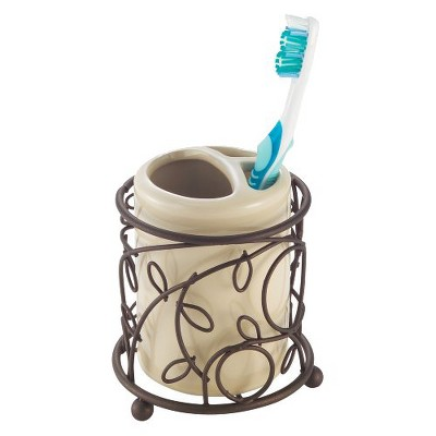 InterDesign Twigz Toothbrush Holder - Vanilla/Bronze