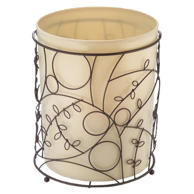 InterDesign Twigz Wastebasket - Vanilla/Bronze