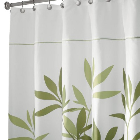 interdesign leaves shower curtain product details page