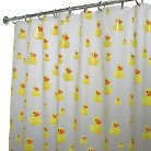 "InterDesign Ducks Soft-Touch PEVA Shower Curtain - Yellow/Orange (72"" x 72"")"