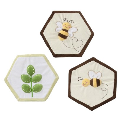Tiddliwinks Bee Meadow 3pc Wall Hanging