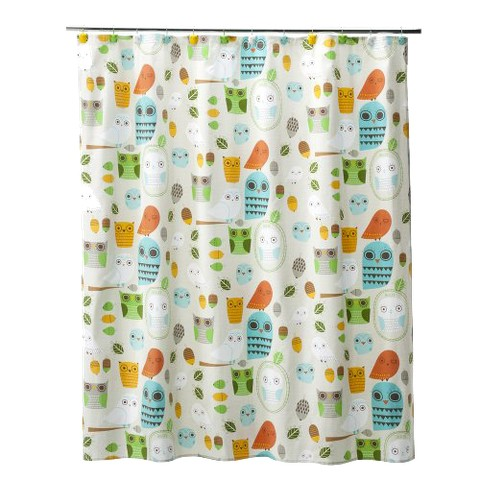 "Give a Hoot Shower Curtain (72x72"")"