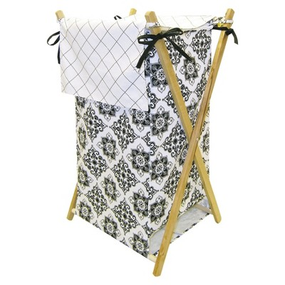 Trend Lab Versailles Hamper - Black & White