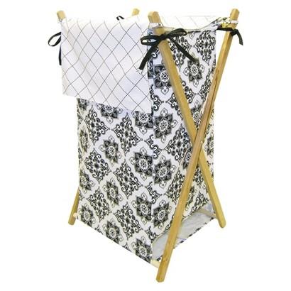 Trend Lab Versailles Hamper - Black & White