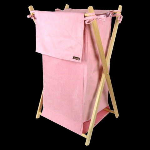Trend Lab Ultra Suede Hamper - Pink