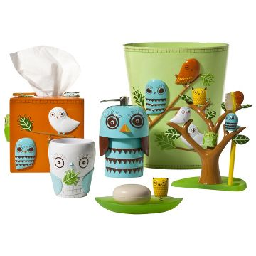 Give a Hoot Bath Coordinates Collection. lakers bathroom set   Target