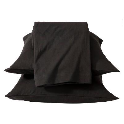 Room Essentials™ Jersey Sheet Set - Black (Twin)