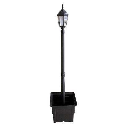Solar Lamp Post With Square Planter