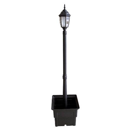 product description page solar lamp post with square planter. Black Bedroom Furniture Sets. Home Design Ideas