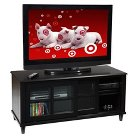 """French County TV Stand Black 48"""" - Convenience Concepts"""
