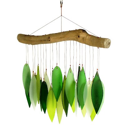 Blue Handworks Glass and Driftwood Wind Chime