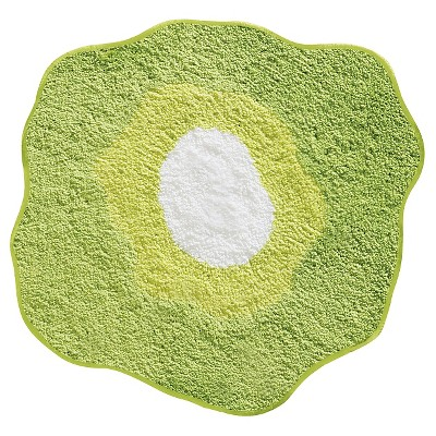 "InterDesign Poppy 2 Microfiber Rug - Green (30x27.5"")"
