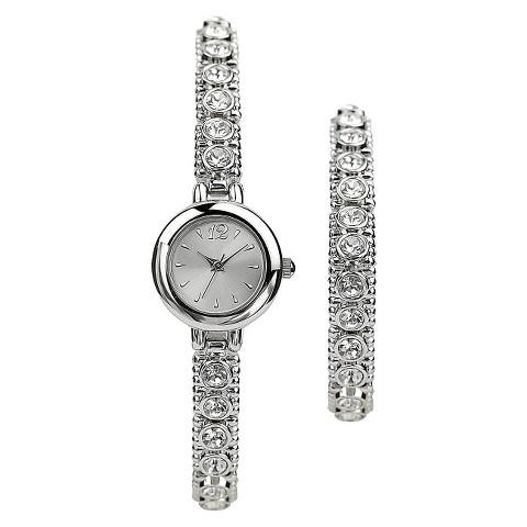 Women's Stretch Bracelet Watch - Silver
