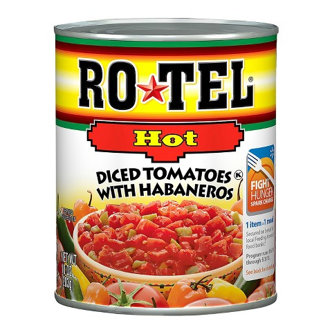 Rotel Extra Hot Diced Tomatoes & Chili Peppers 10 oz